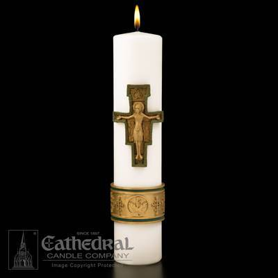 Cross of St Francis SCULPTWAX Christ Candle