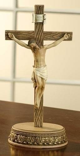 Crucifix with Stand standing crucifix, crucifix, joseph studio, home gift, home decor, church decor, wedding gift, 62629