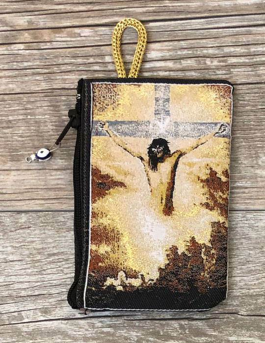 Crucifixion Rosary Pouch from Turkey