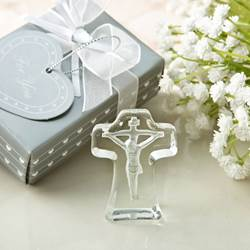 Crystal Cross with Deep Etch of Jesus