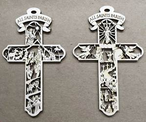 CUSTOM CROSS ORNAMENTS FOR CHURCHES, RECOGNITION, SCHOOLS
