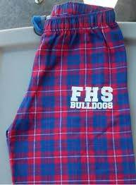 Custom Flannel PJ Pants w/School Name