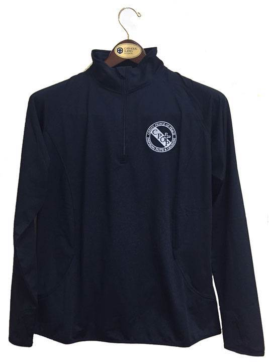 BEST SELLER! Mens Quarter Zip Performance Pullover with Embroidered School Logo *Spiritwear*