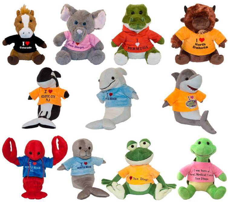 "Custom 10"" Stuffed Animals"