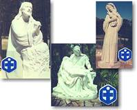 Custom White Carrara Marble Statues