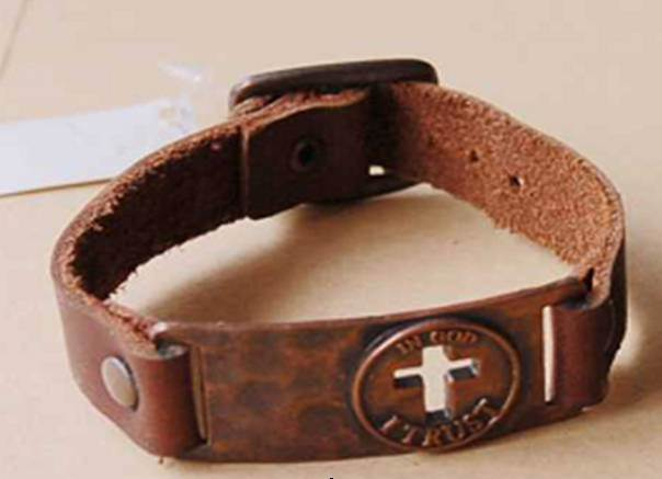 Cut Out Cross Coin Bracelet
