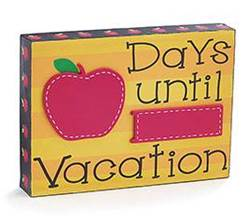 Days Until Vacation Table Block