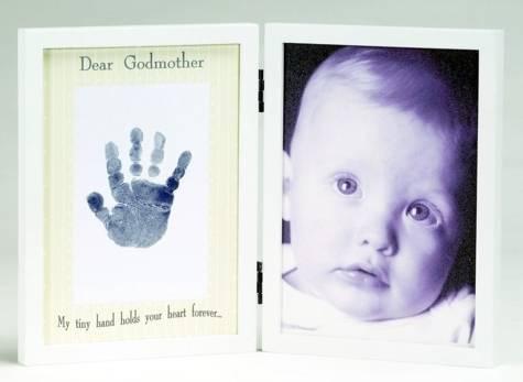 Dear Godmother Handprint Frame