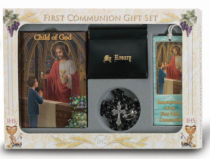 Deluxe First Communion Gift Set ,Black