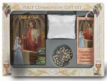 Deluxe First Communion Gift Set ,White