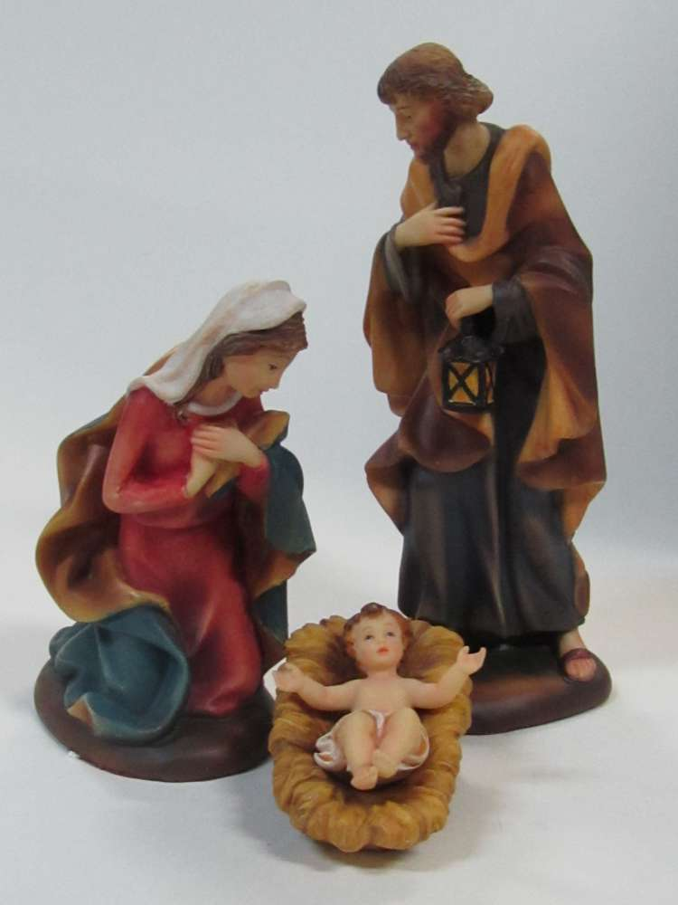 "Demetz Classico 6"" Holy Family *WHILE SUPPLIES LAST* holy family figurine, holy family, holy family figurine, home decor, christmas decor, nativity decor, christmas gift, 1950DCHF6"