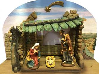 "Demetz Classico 6"" Nativity with Stable"