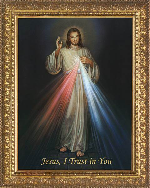 Divine Mercy Framed Canvas