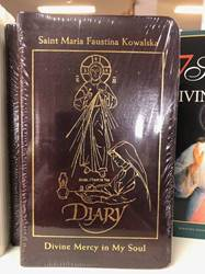 Divine Mercy In My Soul, Leather Cover St. Maria Faustina Kowalska