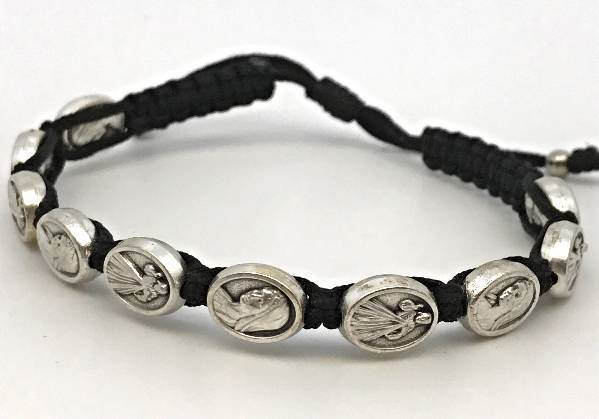 Divine Mercy / Mary Bracelet Black