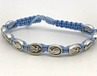 Divine Mercy / Mary Bracelet Blue