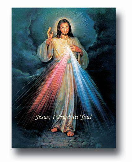 "19"" X 27"" Divine Mercy Italian gold Embossed Poster"