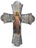 Divine Mercy Vintage Wood Wall Cross