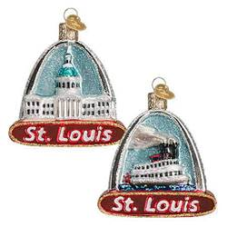 Double Sided St. Louis Glass Ornament