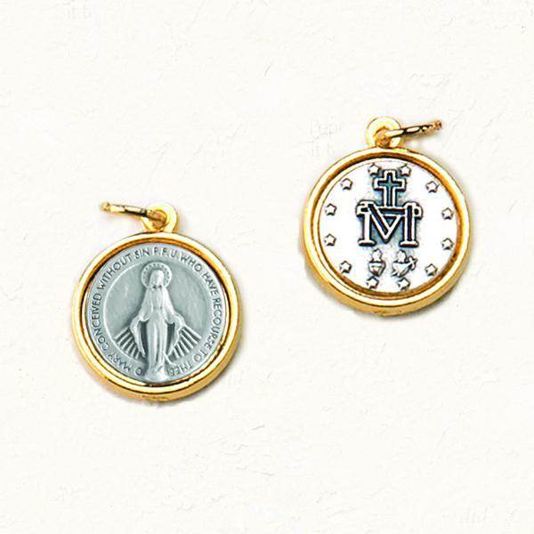 Double-sided, Two-tone Miraculous Medal