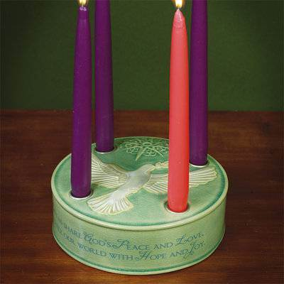 Dove Advent Candleholder*WHILE SUPPLIES LAST* advent wreath, advent candle holder, advent candleholder, taper candle holder, advent season candle holder, seasonal wreath for candles,