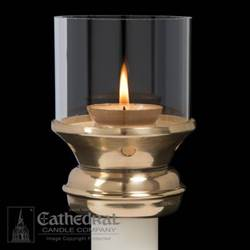 Draft Resistant Brass Candle Followers