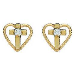 Earrings with CZ Crystal Accents and Gold Filled