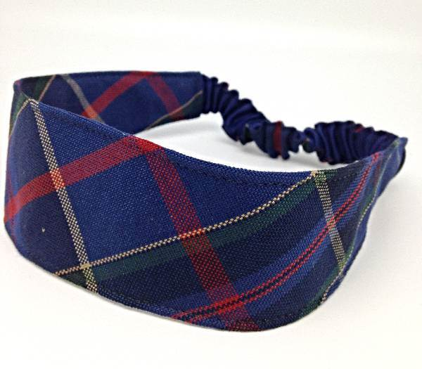 Elastic Headband, #93 Plaid