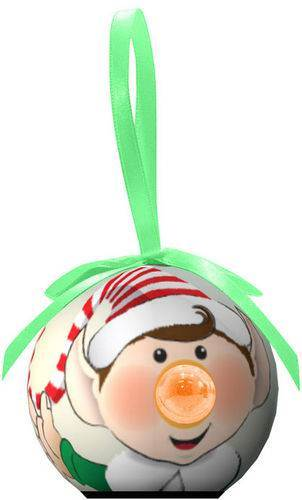 Elf Lighted Nose Ball Ornament