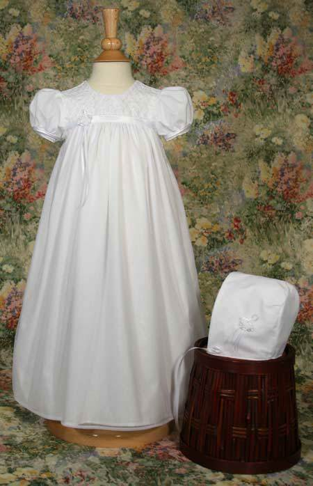 Embroidered Christening Gown and Bonnet christening gown, christening dress, baptism gown, baptism dress, baby gown, christening dress and bonnet, baptism dress and bonnet, embroidered gown,