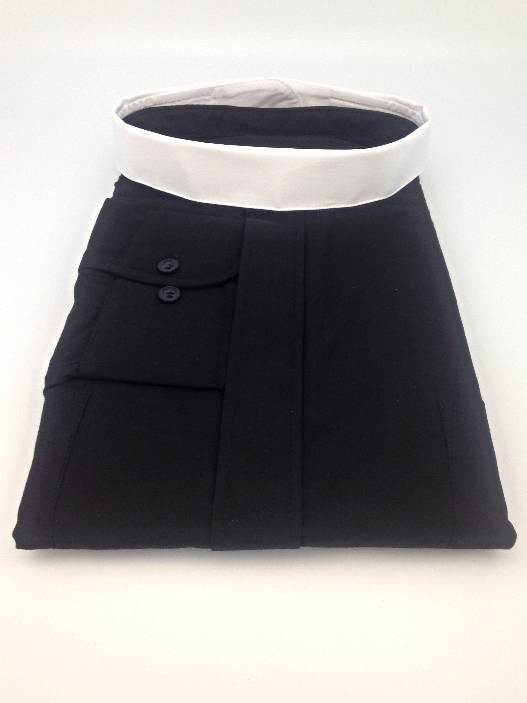 Fabric Full Round Collar #3-1 1/2in collar, clergy collar, fabric collar, clergy apparel, shirt accessory, 93150,93155,93160,93165,93170,93175,93180,93180,93185,93190,93195,93200,93210,93220