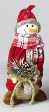 "11"" Fabric Snowman Statue *WHILE THEY LAST*"