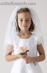 Face Framer First Communion Veil