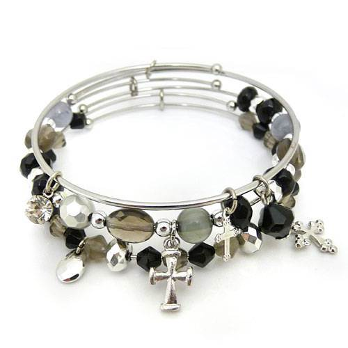Crosses 3pc Bangle Bracelet Set
