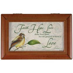 """Faith, Hope, Love"" Music Box"