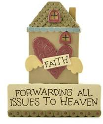 Faith House Block Sign