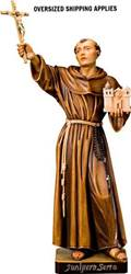 Father Junipero Serra Colored Woodcarved Statue
