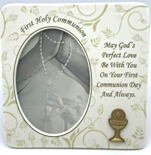 First Communion Frame frame, first communion frame, holy communion, picture frame, photo frame, holy eucharist gift,  porcelain frame,ceramic, 63085