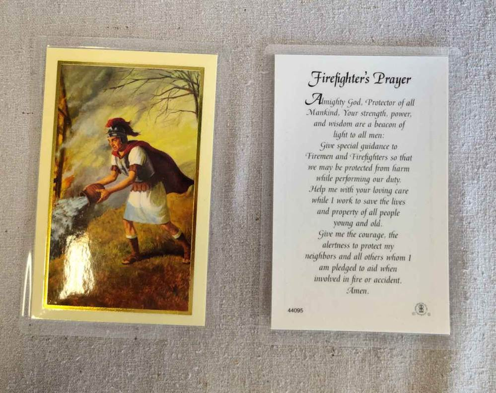 Firefighter's Prayer Holy Card, Laminated 25/Pkg | CATHOLIC CLOSEOUT