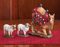 "First Christmas Gifts 3 Piece Camel and Sheep Set, 10"" Scale"