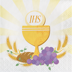 First Communion Beverage Napkins 16/pkg
