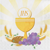 Gold First Communion Beverage Napkins 16/pkg