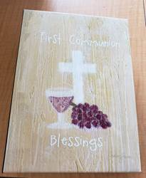 First Communion Blessings Photo Album Metal Finish