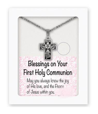First Communion Cross Pendant