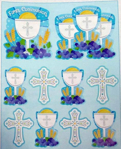 First Communion Cutout Kit, Blue