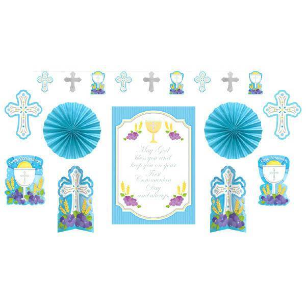 First Communion Decorating Kit, Blue