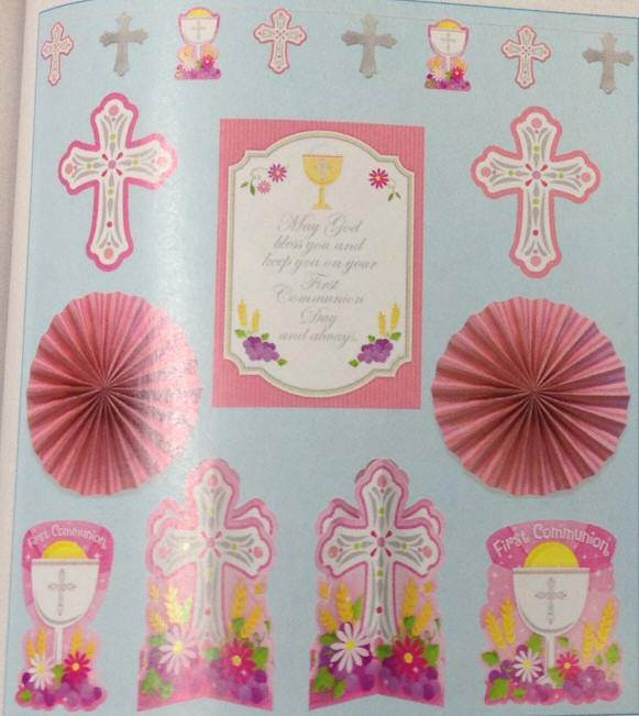 First Communion Decorating Kit, Pink