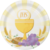 Gold First Communion Dessert Plates 8/pk