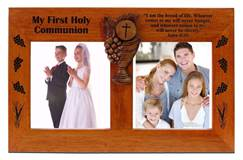 First Communion Double Picture Frame
