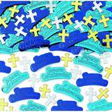 First Communion Embossed Confetti, Blue